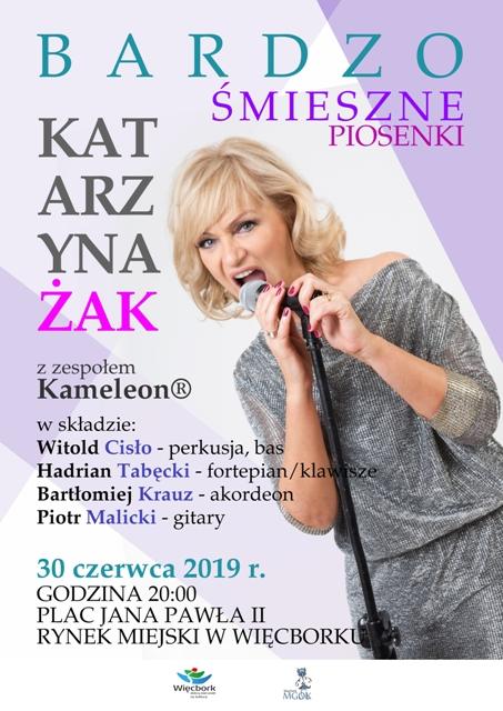 Katarzyna Żak wystąpi dziś (30.06) na rynku w Więcborku