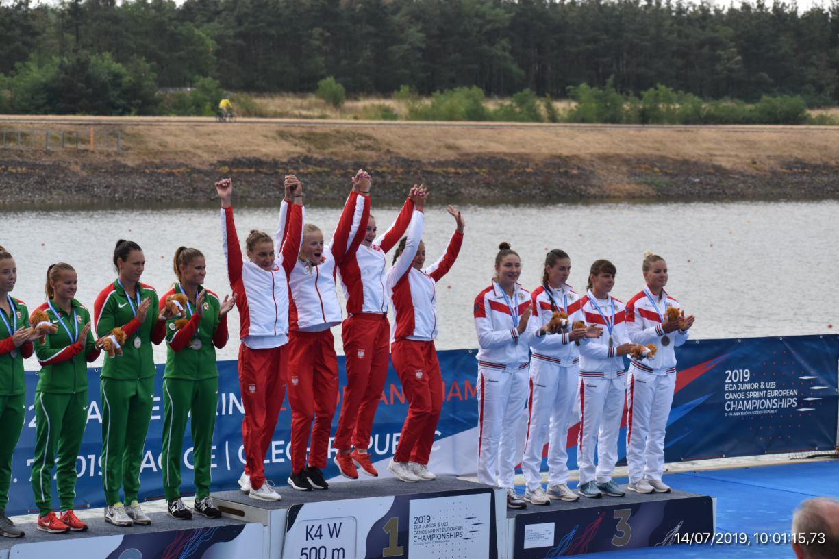 Złoto dla Julii Olszewskiej z Chojnic na Mistrzostwach Europy w kajakarskiej czwórce