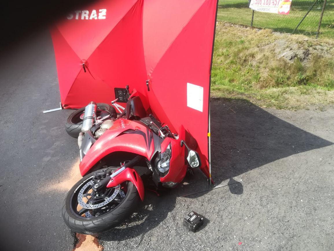 Motocyklista poszkodowany w wypadku w powiecie człuchowskim