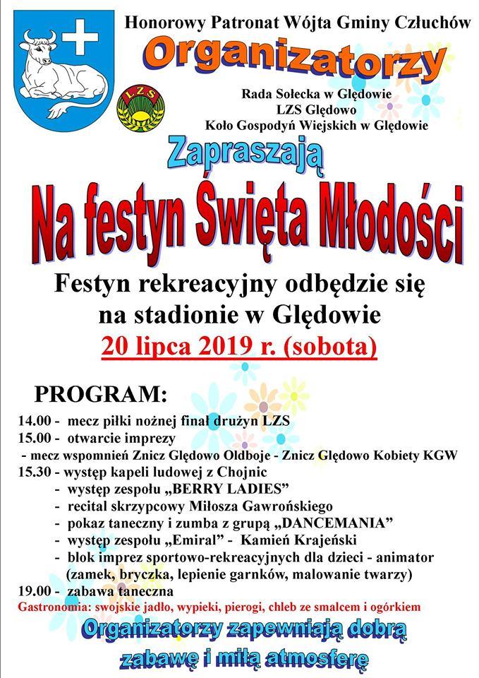 W Ględowie w gminie Człuchów dziś 20.07 Święto Młodości