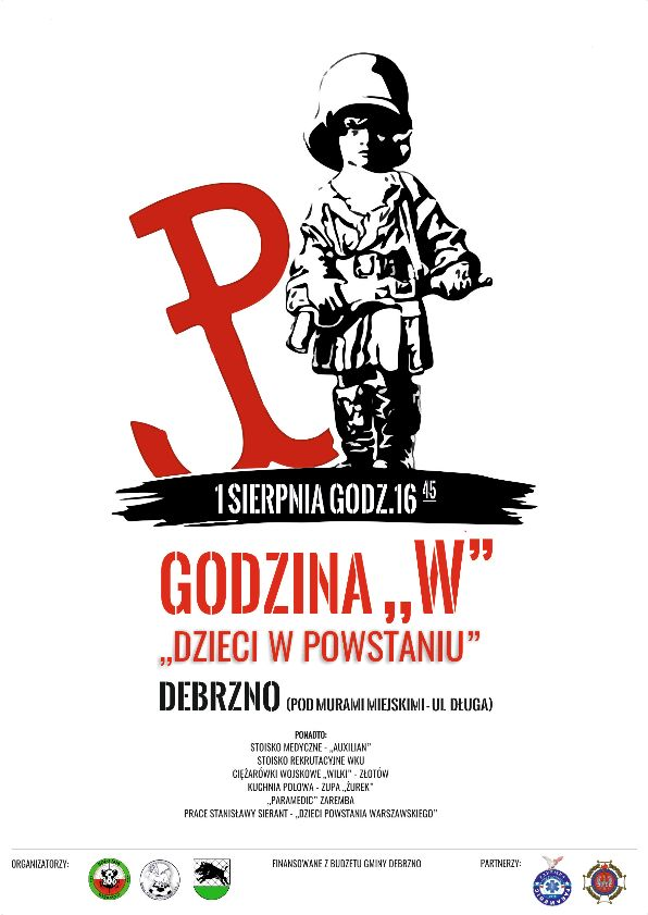 Mieszkańcy Debrzna uczczą dziś (1.08) 75. rocznicę wybuchu Powstania Warszawskiego.