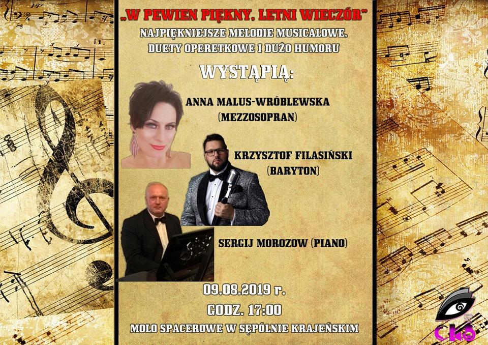 Opera, operetka i musical - to wszytko dziś na molo w Sępólnie Krajeńskim