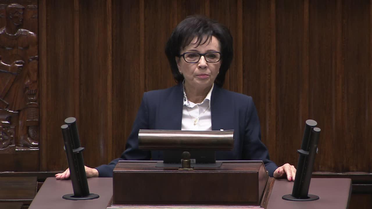 Elżbieta Witek nową marszałkinią sejmu. W pierwszym wystąpieniu zaapelowała do opozycji o