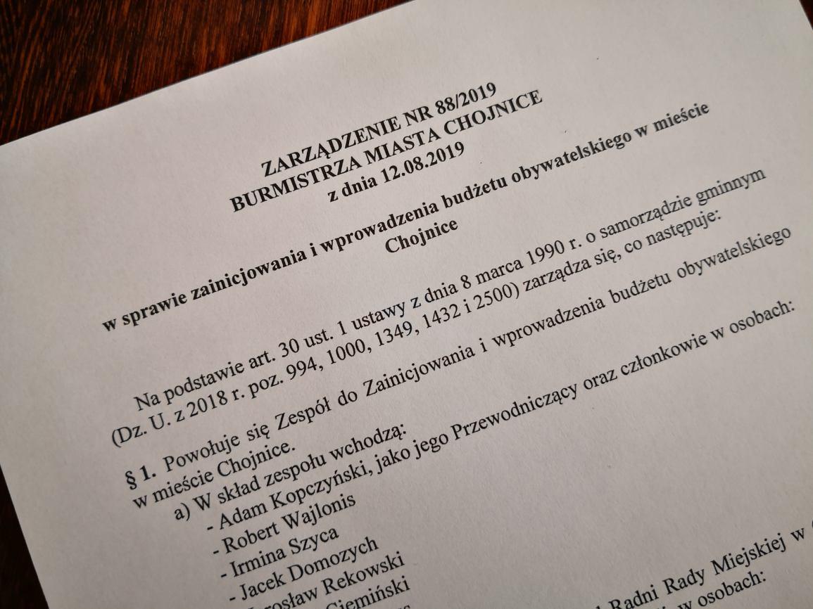 Niebawem ruszą prace związane z budżetem obywatelskim w mieście Chojnice