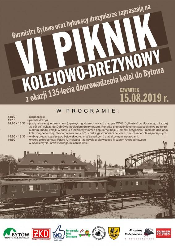 Dziś w Bytowie VI Piknik Kolejowo-Drezynowy