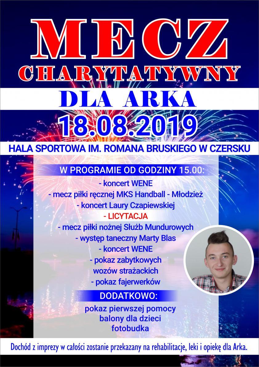Dziś w Czersku mecz charytatywny na rzecz chorego Arka