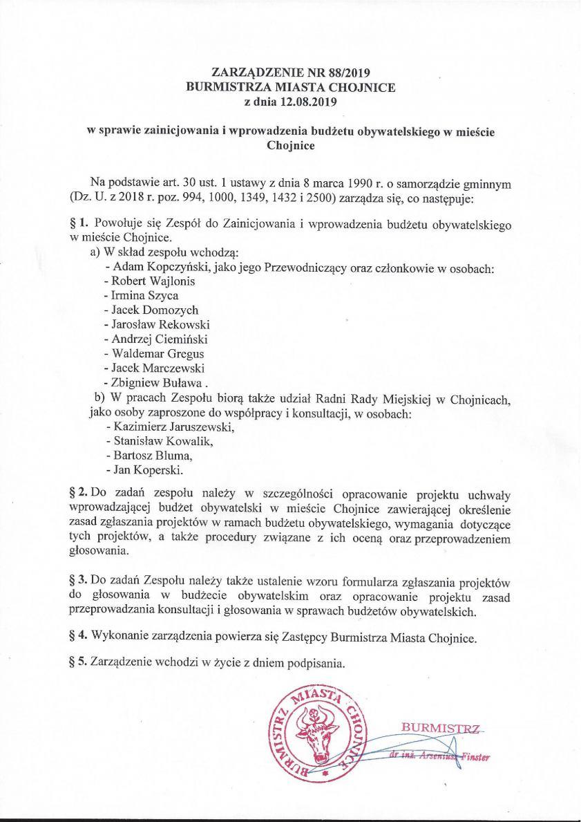 W Chojnicach powołano zespół do spraw utworzenia budżetu obywatelskiego