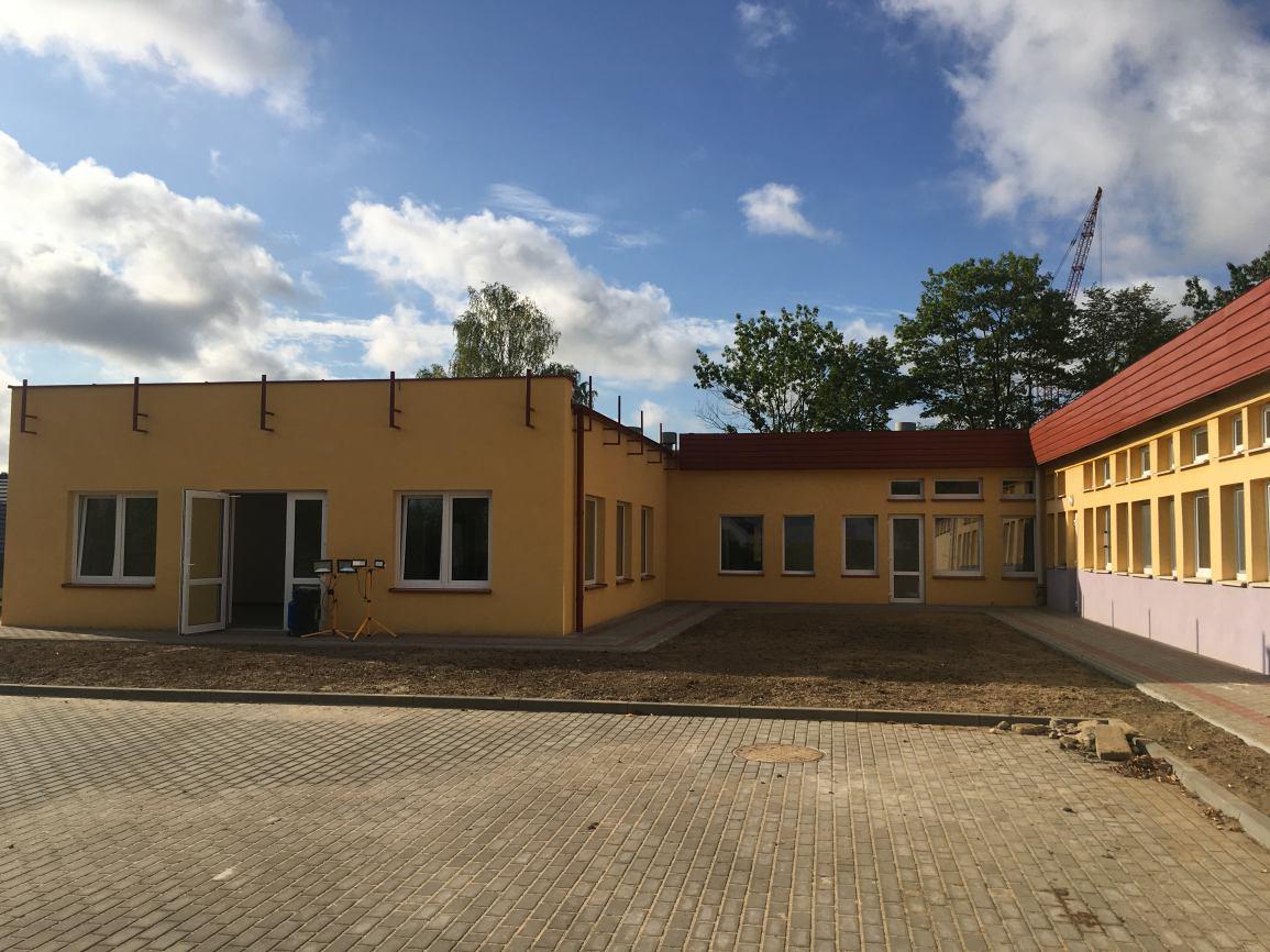 Rozbudowa Przedszkola Samorządowego nr 7 w Kościerzynie zmierza ku końcowi
