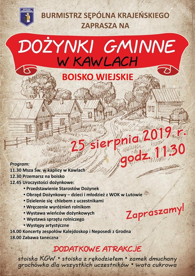 Dziś 25.08 święto plonów w gminie Sępólno Krajeńskie