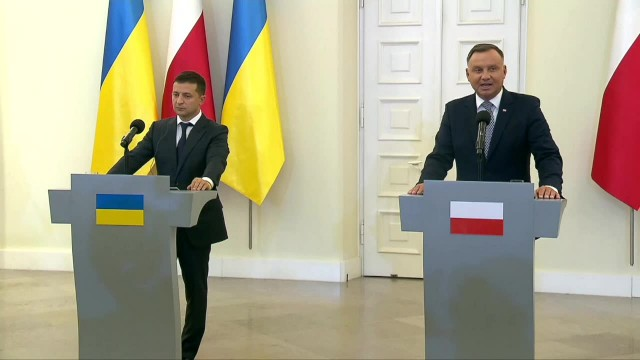Prezydent Ukrainy W. Zełenski z wizytą w Polsce. Podziękował za wsparcie &bdquow czasie rosyjskiej agresji&rdquo