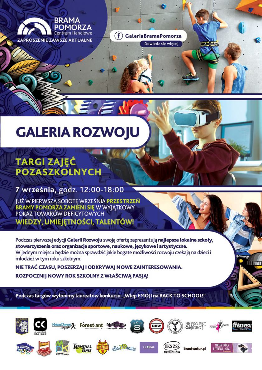 Targi zajęć pozaszkolnych - ta impreza dziś 7.09 w galerii koło Chojnic