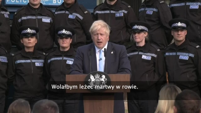 Wolałbym leżeć martwy w rowie. B. Johnson o możliwości opóźnienia brexitu