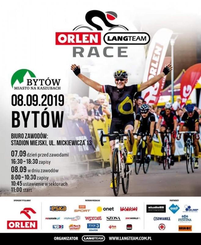 W Bytowie odbędzie się jutro 8.09. wyścig kolarski Orlen Lang Team Race