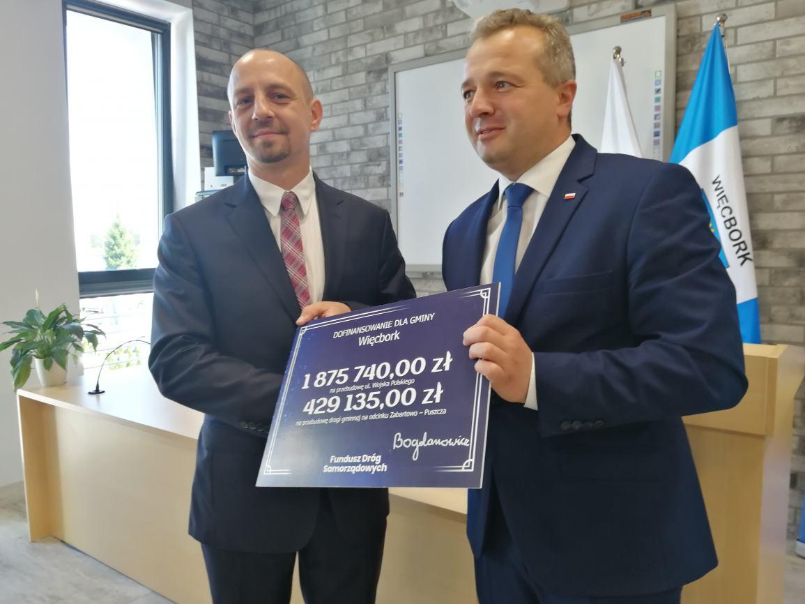 Prawie 2 i pół miliona złotych z Funduszu dróg Samorządowych dla gminy Więcbork