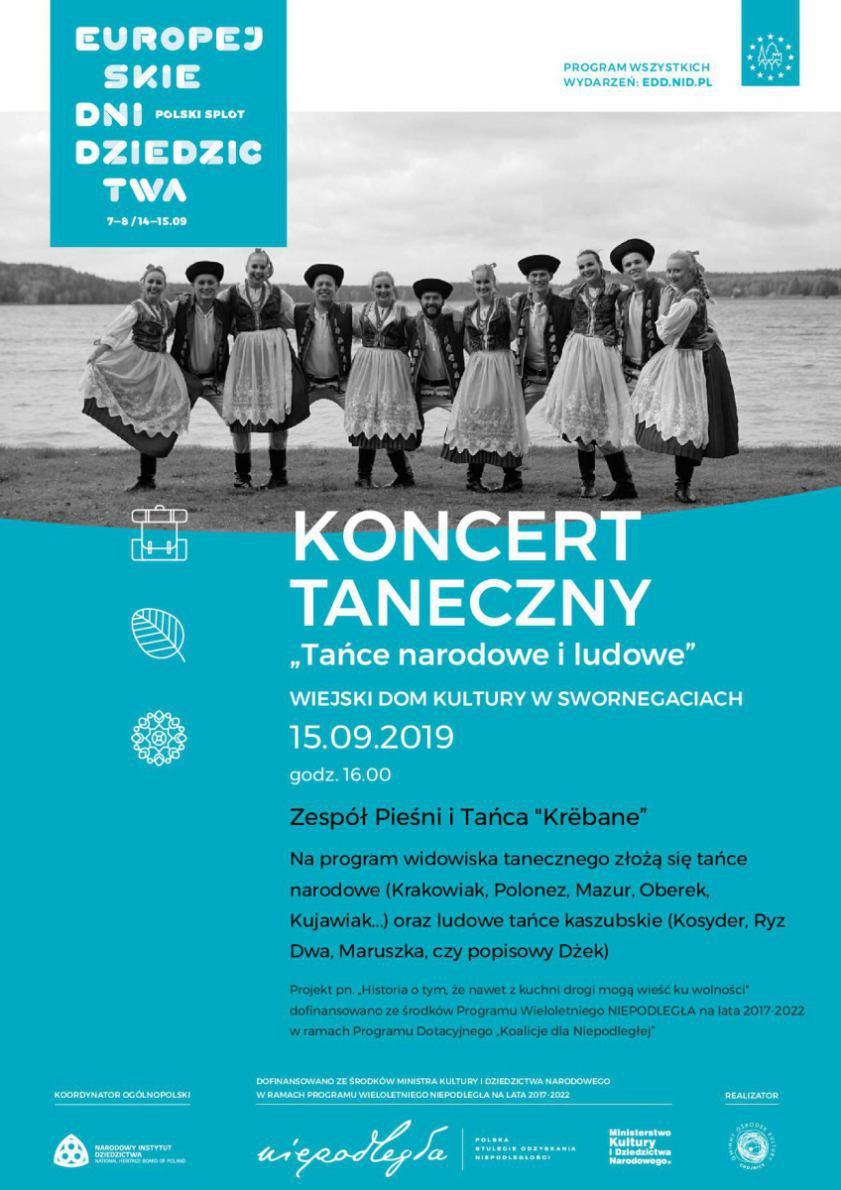 Dziś 15.09 w Swornegaciach koncert taneczny pt. ´Tańce narodowe i ludowe´