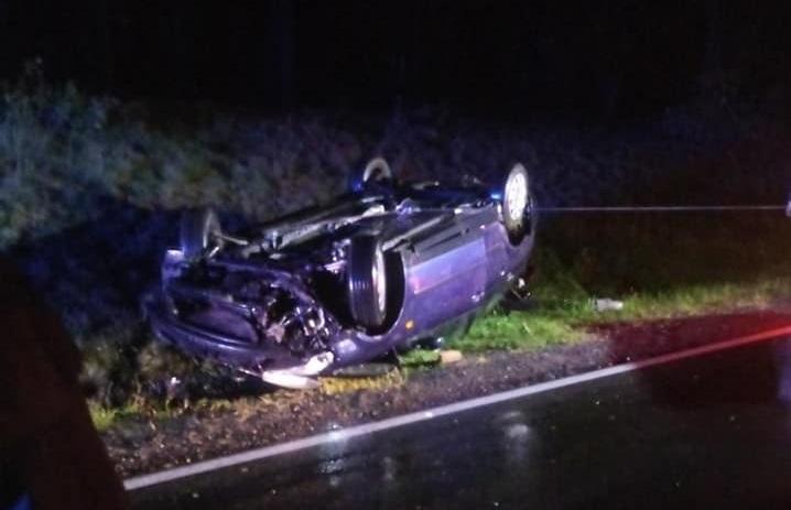 Gmina Rzeczenica: samochód dachował, policjanci nie znaleźli kierowcy na miejscu zdarzenia