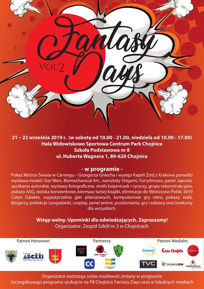 Fantasy Days w Chojnicach: start imprezy w sobotę (21.09)