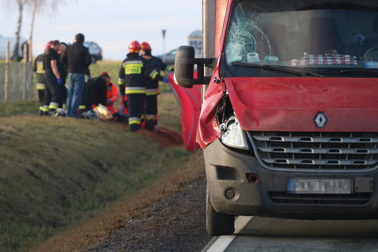 Nie będzie zarzutów dla kierowcy dostawczaka, który śmiertelnie potrącił rowerzystkę z Jęcznik Małych