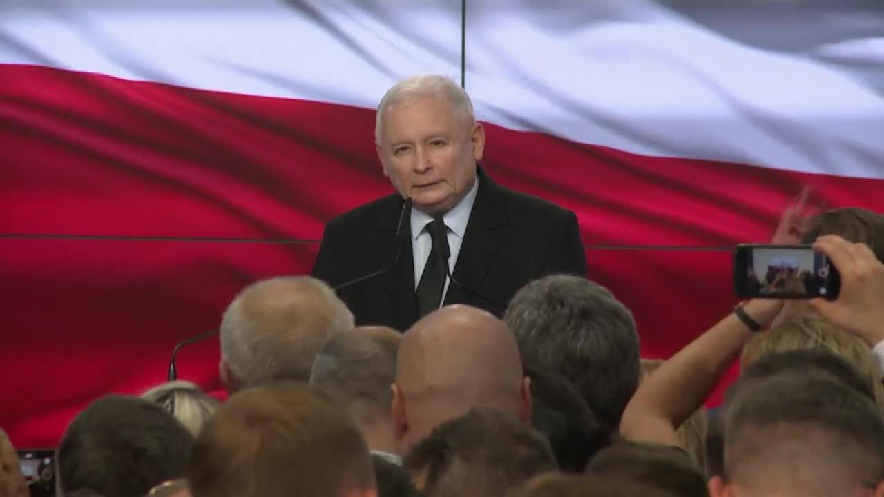 Przed nami cztery lata ciężkiej pracy. J. Kaczyński po ogłoszeniu sondażowych wyników wyborów