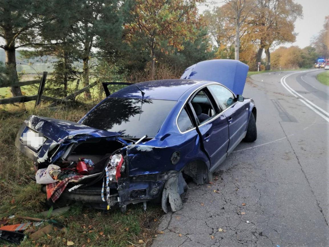 Prawo jazdy miał zaledwie dwa miesiące, a już je stracił. To efekt kolizji w powiecie bytowskim