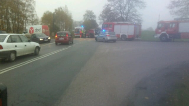 Wymuszenie pierwszeństwa przyczyną wypadku, do jakiego doszło dziś 23.10. rano w Małym Klinczu
