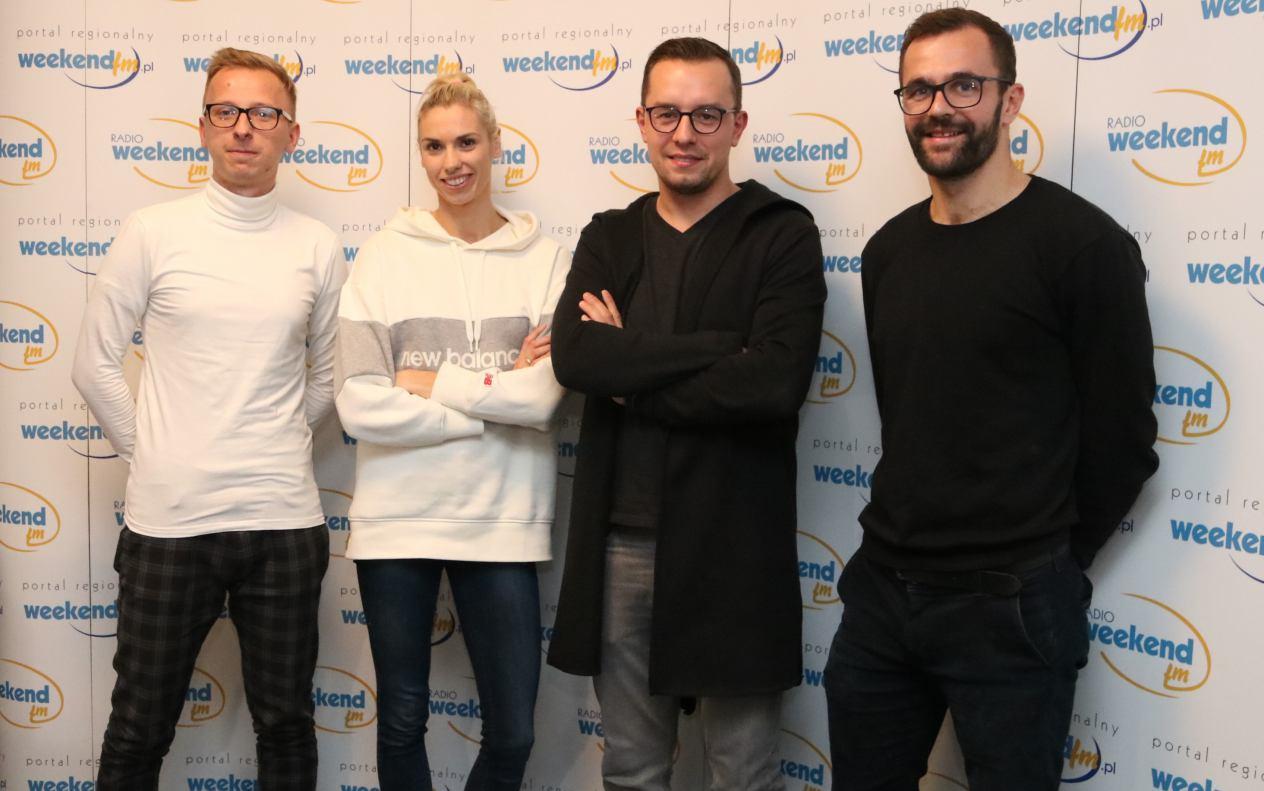 Wicemistrzyni świata Iga Baumgart-Witan i jej mąż-bramkarz Chojniczanki Andrzej Witan w Weekend FM