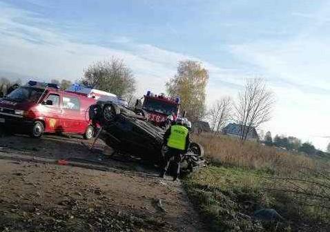 Wypadek w Starej Kiszewie: policja już wie, który z mężczyzn kierował autem