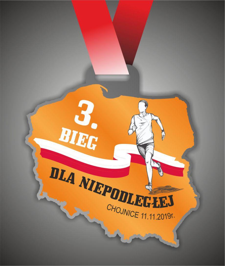 Z okazji Święta Niepodległości jutro 11.11 w chojnickim Parku Tysiąclecia odbędzie się 3. Bieg dla Niepodległej