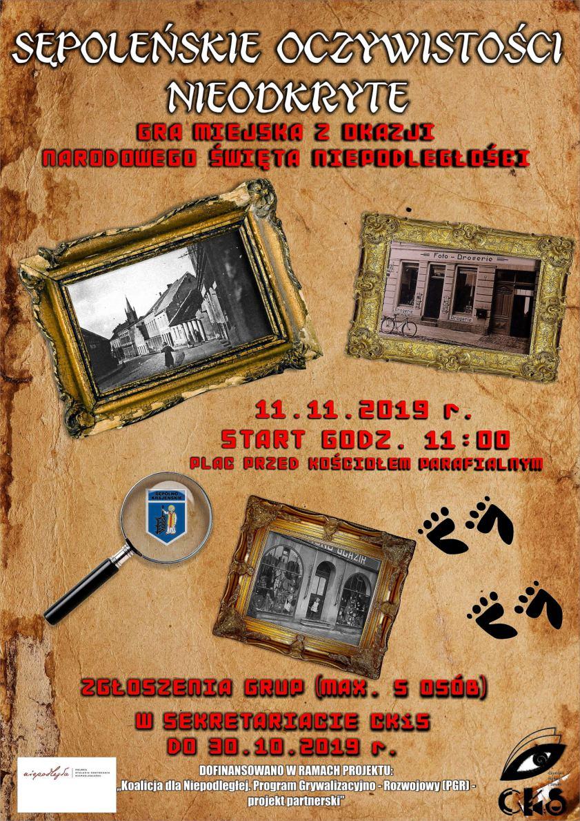 Historyczna gra miejska to pomysł władz Sępólna Krajeńskiego na świętowanie niepodległości