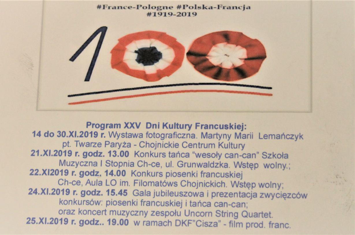 Już za kilka dni obchody 25. Dni Kultury Francuskiej w Chojnicach