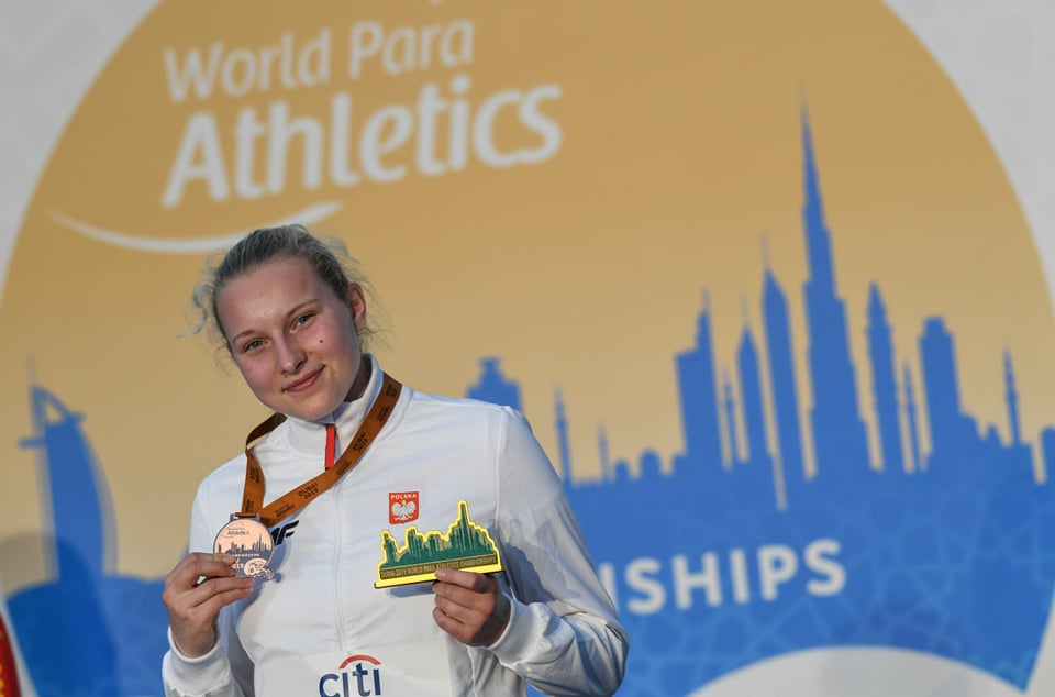 Zawodniczka UKS Olimpijczyk Skorzewo, Faustyna Kotłowska, medalistką Paralekkoatletycznych Mistrzostw Świata