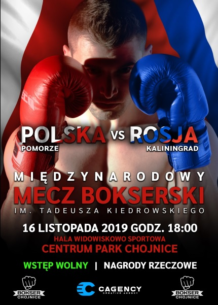 Memoriał Tadeusza Kiedrowskiego i mecz bokserski Polska - Rosja w Chojnicach