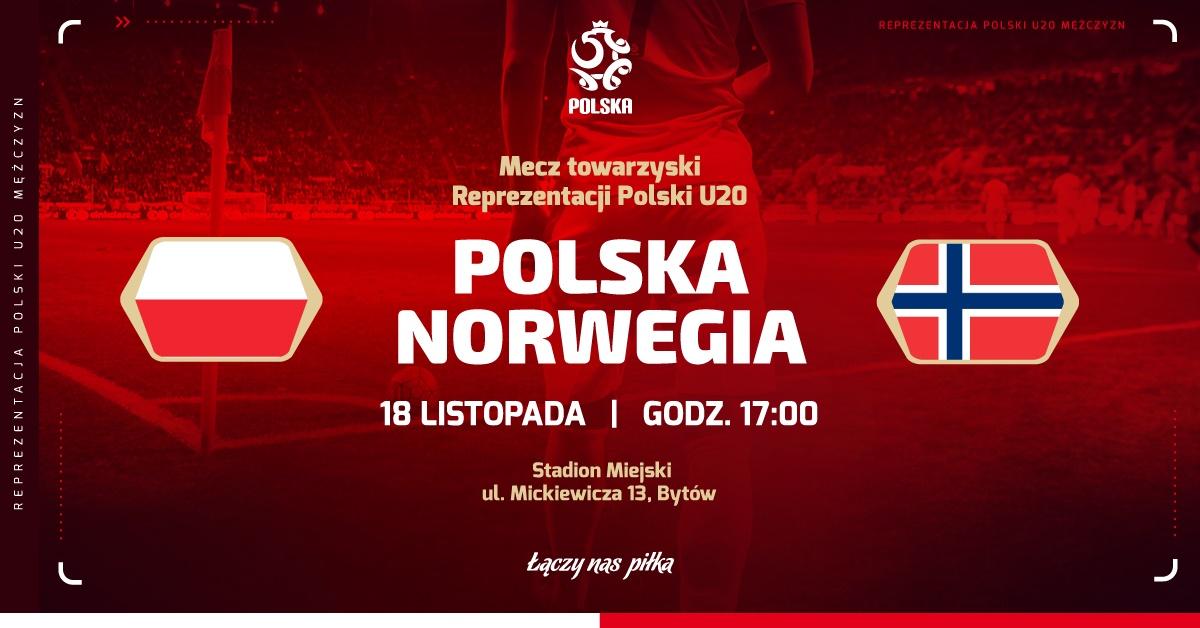 W Bytowie odbędzie się dziś 18.11 mecz reprezentacji Polski do lat 20 z kadrowiczami z Norwegii