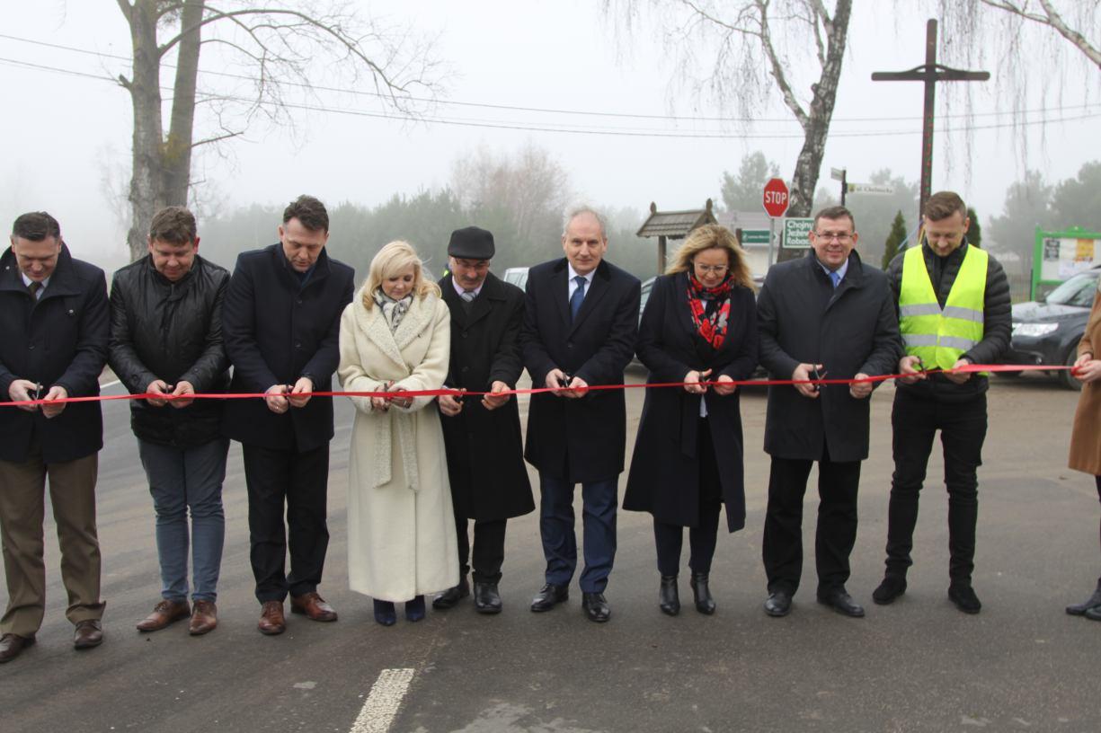 Zakończyła się przebudowa dwóch odcinków dróg w powiecie kościerskim