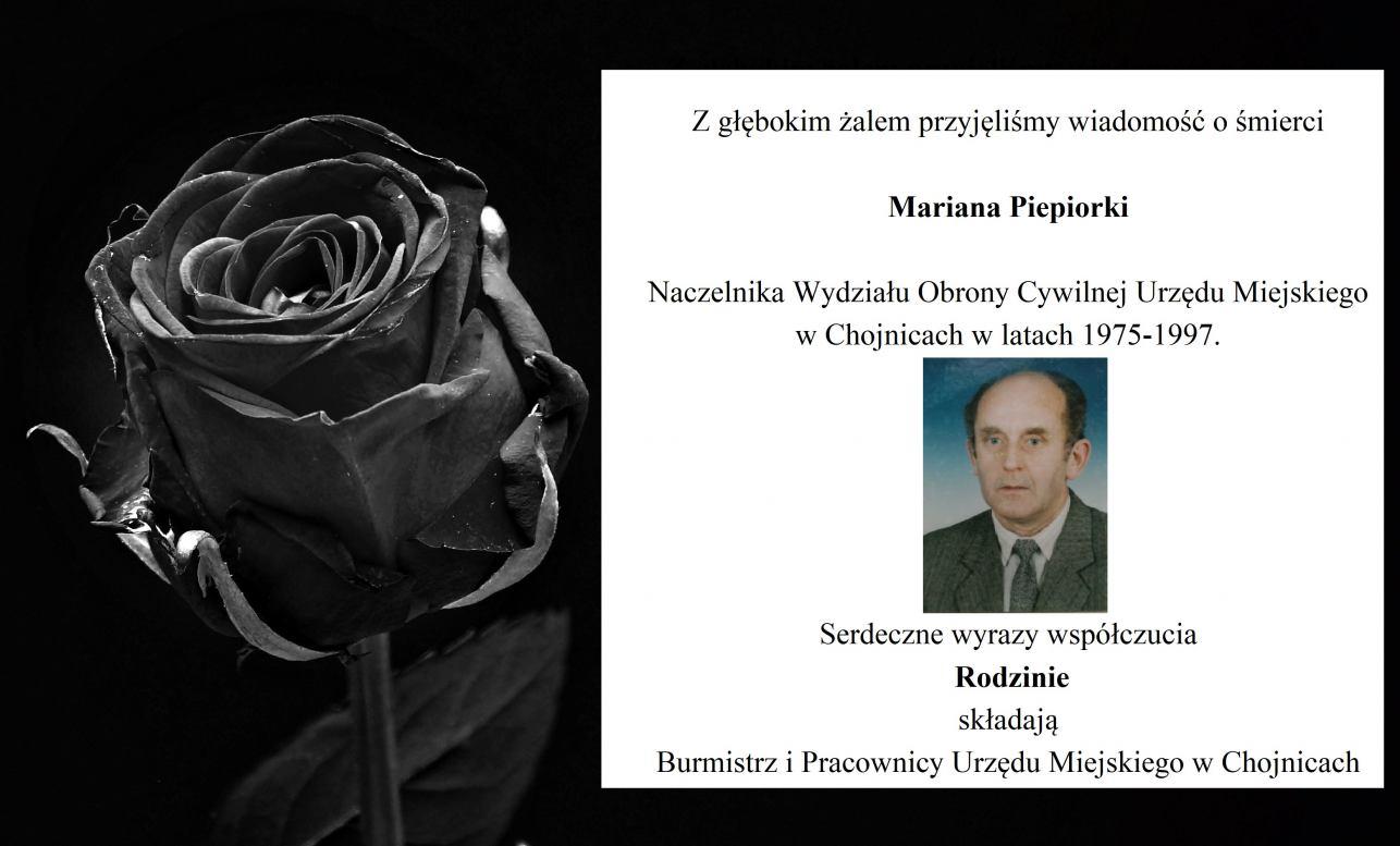 Zmarł Marian Piepiorka były Naczelnik Wydziału Obrony Cywilnej Urzędu Miejskiego w Chojnicach