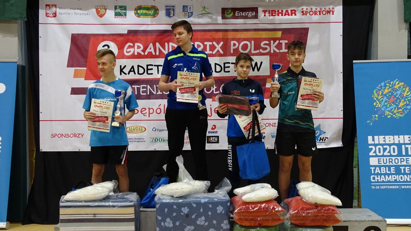W Sępólnie Krajeńskim zakończyło się Grand Prix Polski kadetek i kadetów w tenisie stołowym (FOTO)