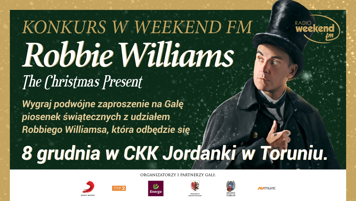 Konkurs Weekend FM wygraj bilety na świąteczny koncert Robbiego Williamsa w Toruniu!