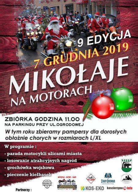 Mikołaje na Motorach już po raz 9. pojawią się w Kościerzynie