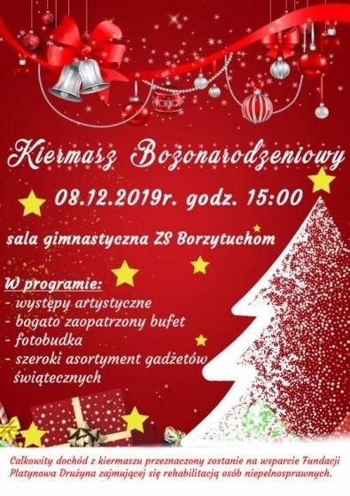 W Borzytuchomiu w powiecie bytowskim dziś 8.12 charytatywny kiermasz świąteczny