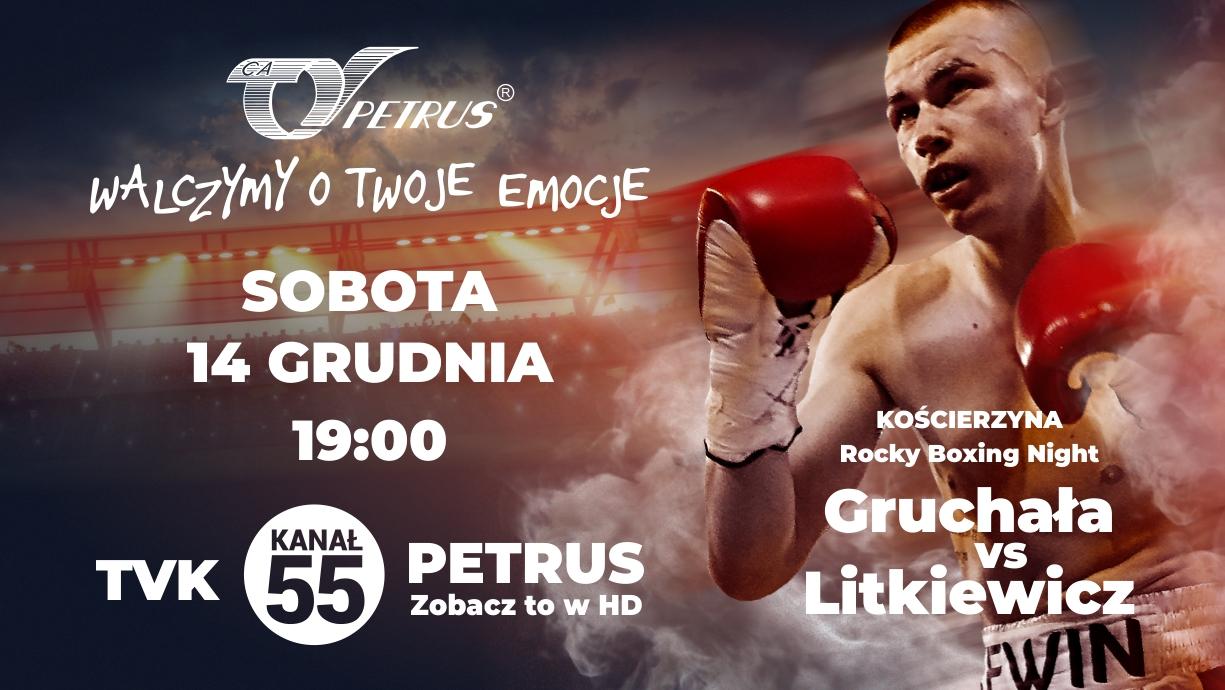 Kewin Gruchała przed kolejną walką. Obejrzyj pojedynek chojnickiego boksera w Telewizji Kablowej Petrus!