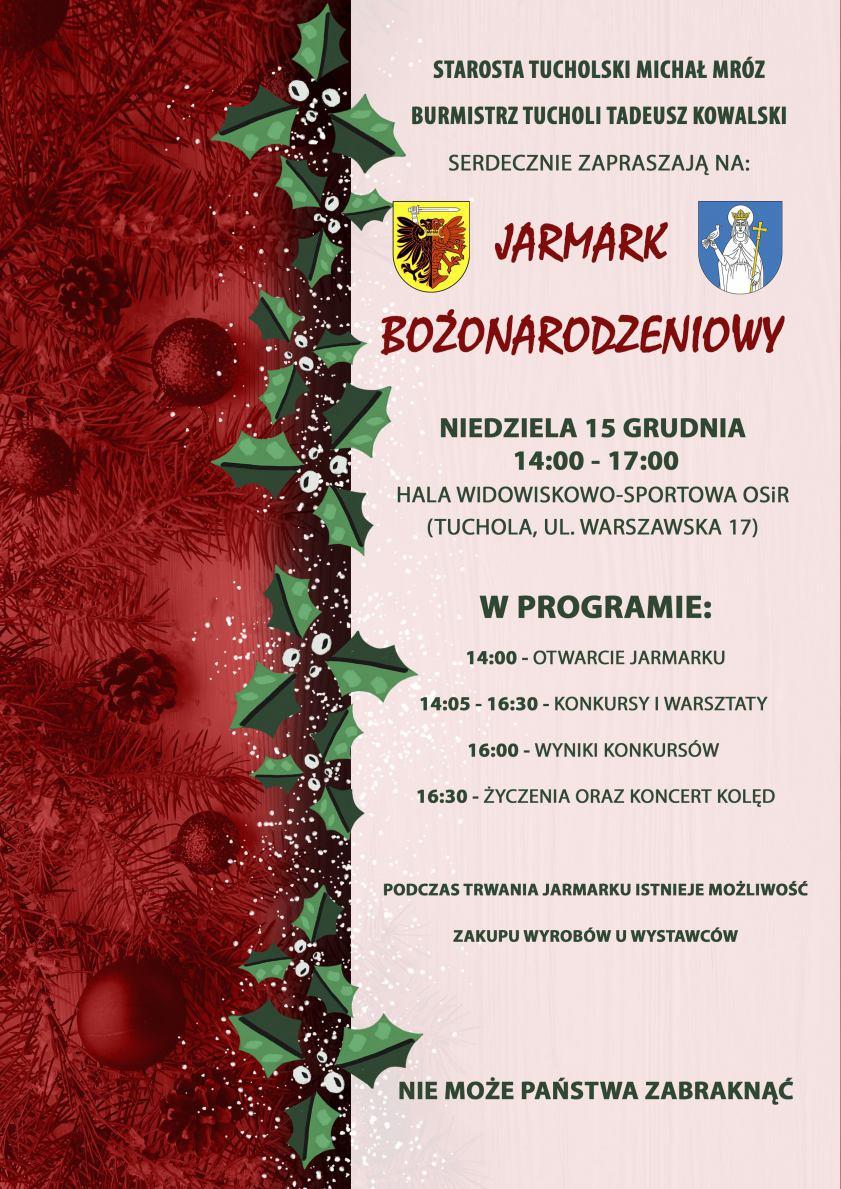 Dziś (15.12) w Tucholi Jarmark Bożonarodzeniowy