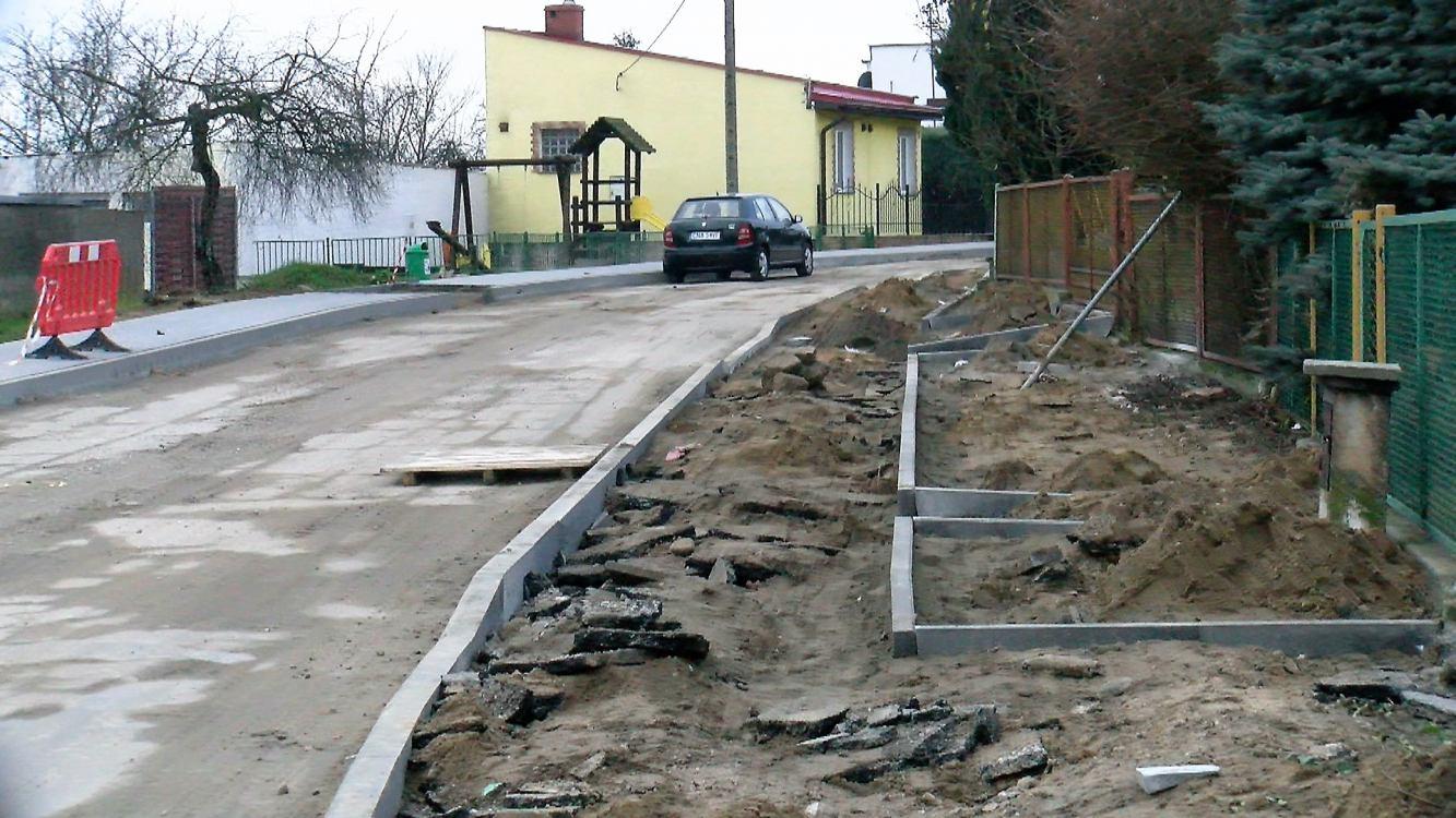 Trwają prace przy remoncie dwóch dróg w Więcborku