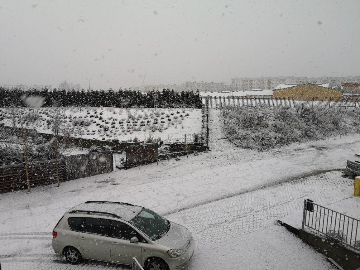 Zima na drogach regionu