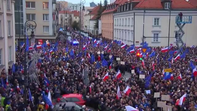 Marsz tysiąca tóg w Warszawie.