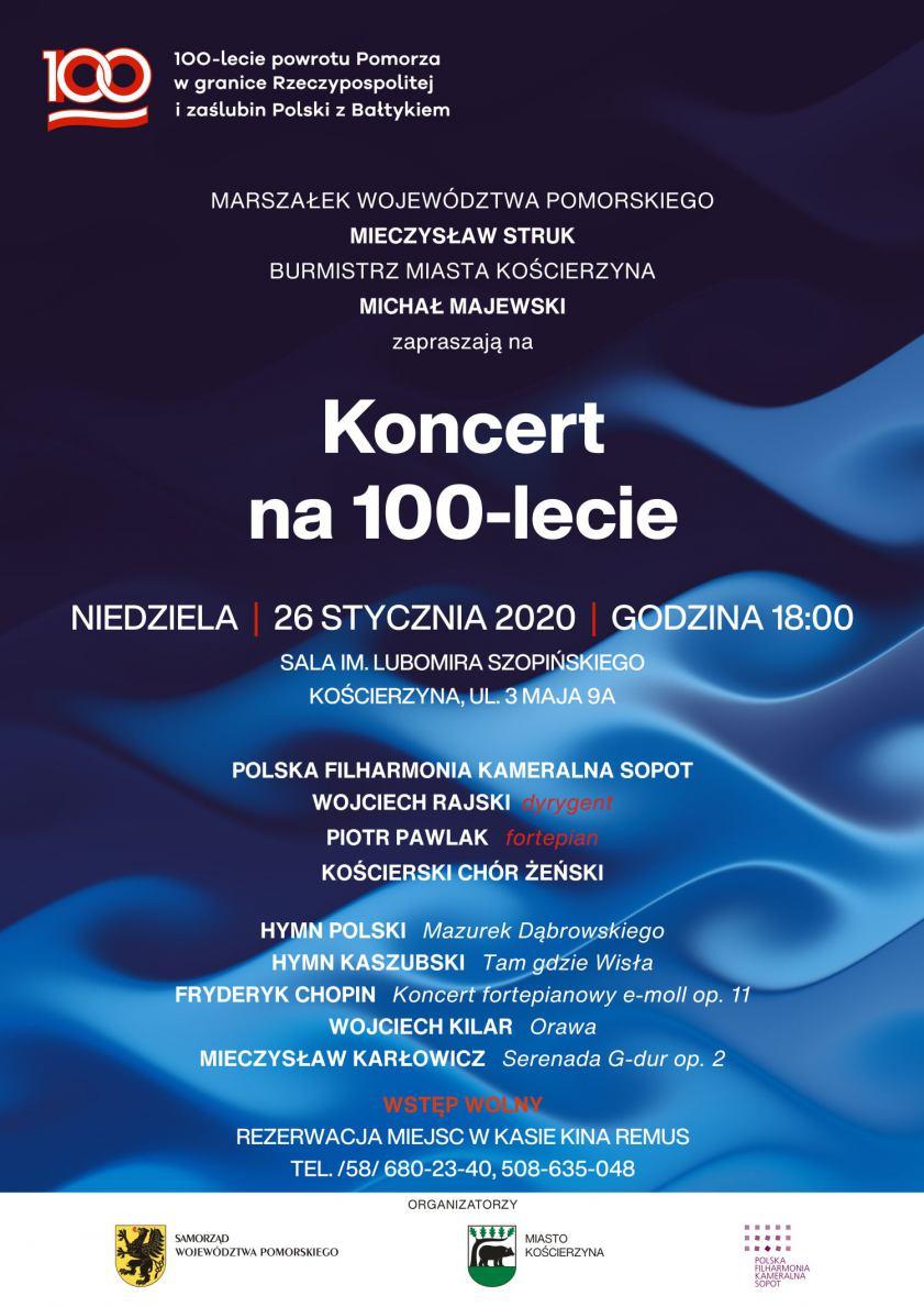 Koncert w Kościerzynie z okazji 100-lecia powrotu Pomorza w granice Rzeczpospolitej