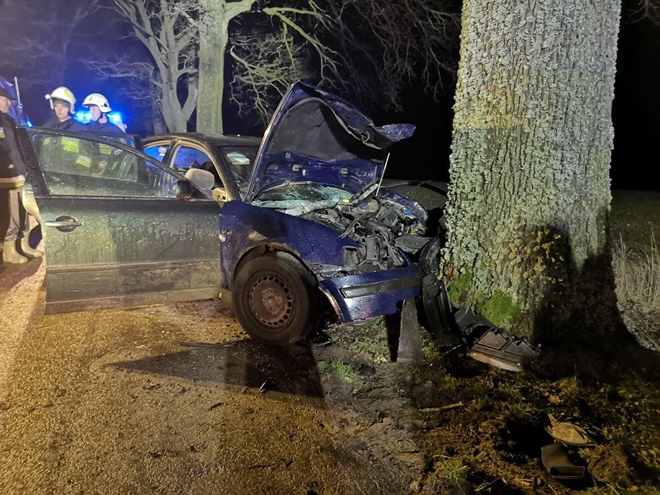 Nietrzeźwy 29-latek spowodował wypadek drogowy w powiecie kościerskim