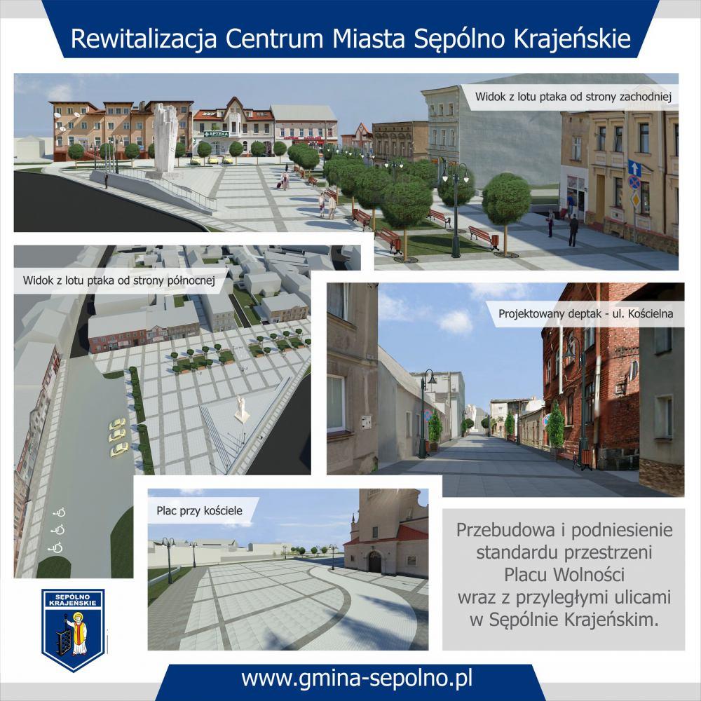 Będą większe pieniądze na rewitalizację centrum Sępólna Krajeńskiego