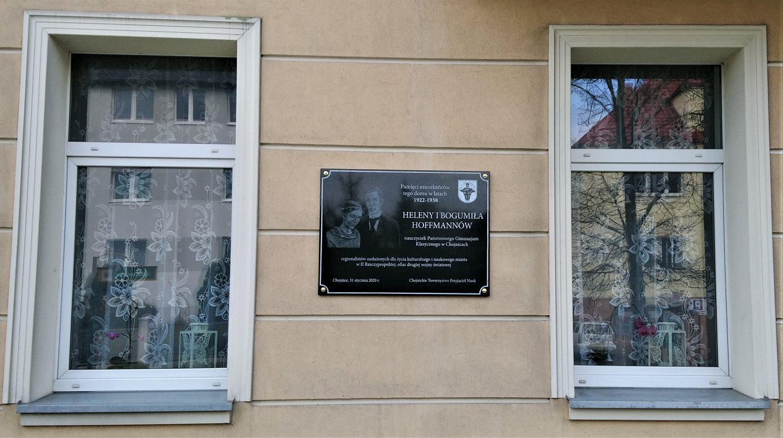 W Chojnicach jest kolejna tablica upamiętniająca zasłużonych mieszkańców