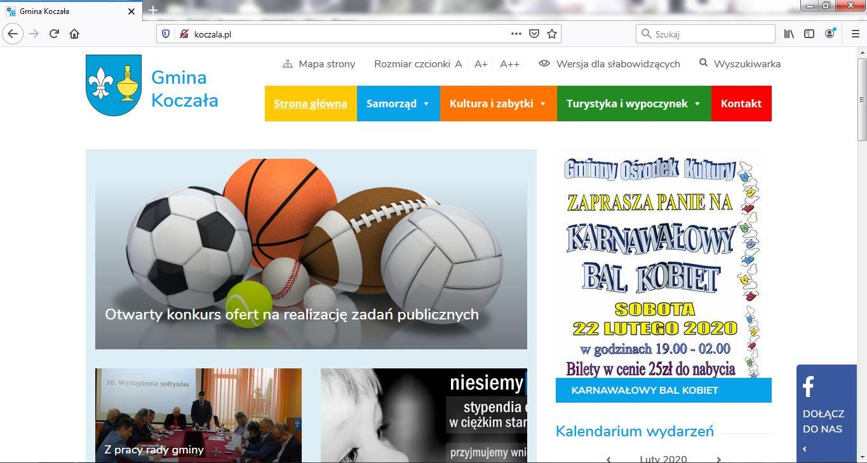 Gmina Koczała ma nową stronę internetową za prawie 10 tys. zł