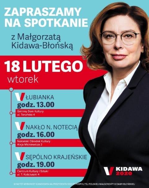 Małgorzata Kidawa - Błońska rozpoczyna cykl spotkań z wyborcami w naszym regionie